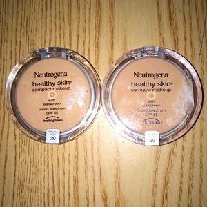 New 2 Neutrogena Compact Makeup W/SPF 55 Sunscreen